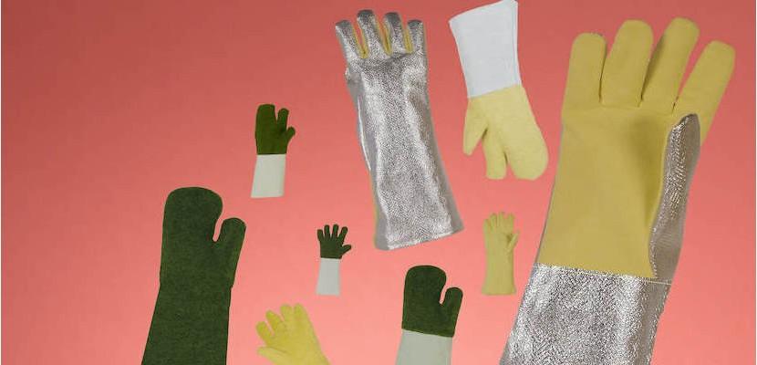 Rękawice i rękawice jednopalcowe od 400 do 500°C