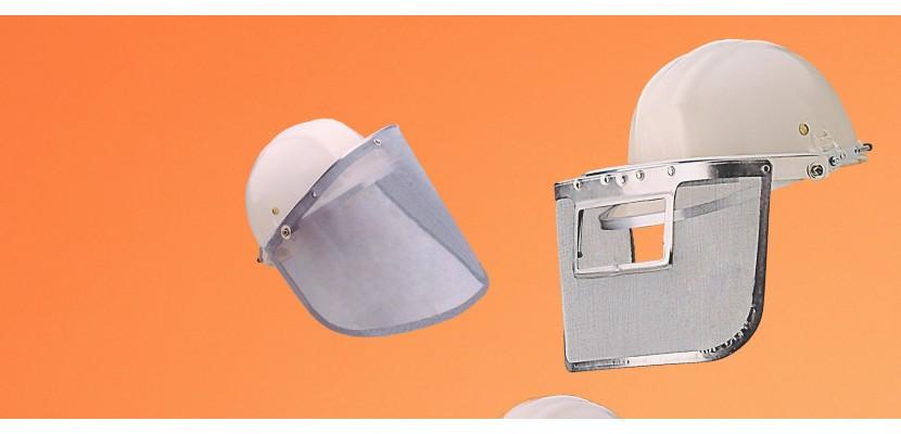 Metal fabric visors