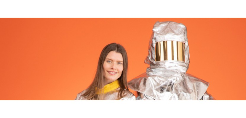 Aluminised garments