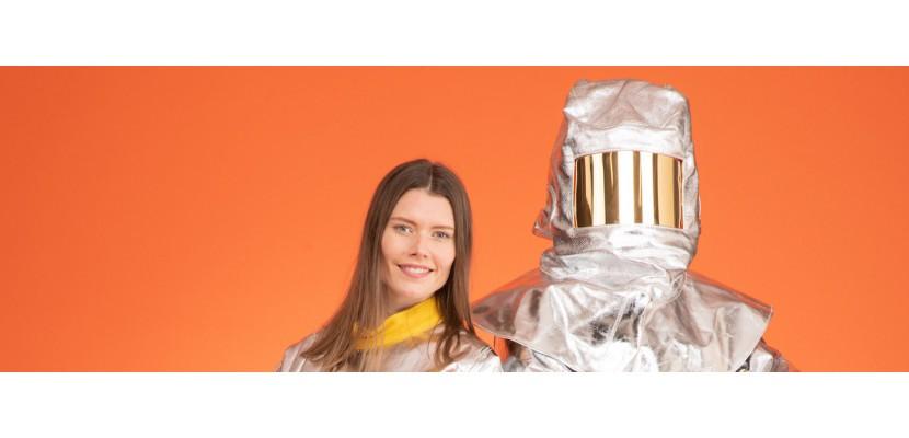 Aluminisierte Bekleidung